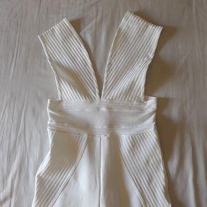 FashionNova White Bandage Bodysuit